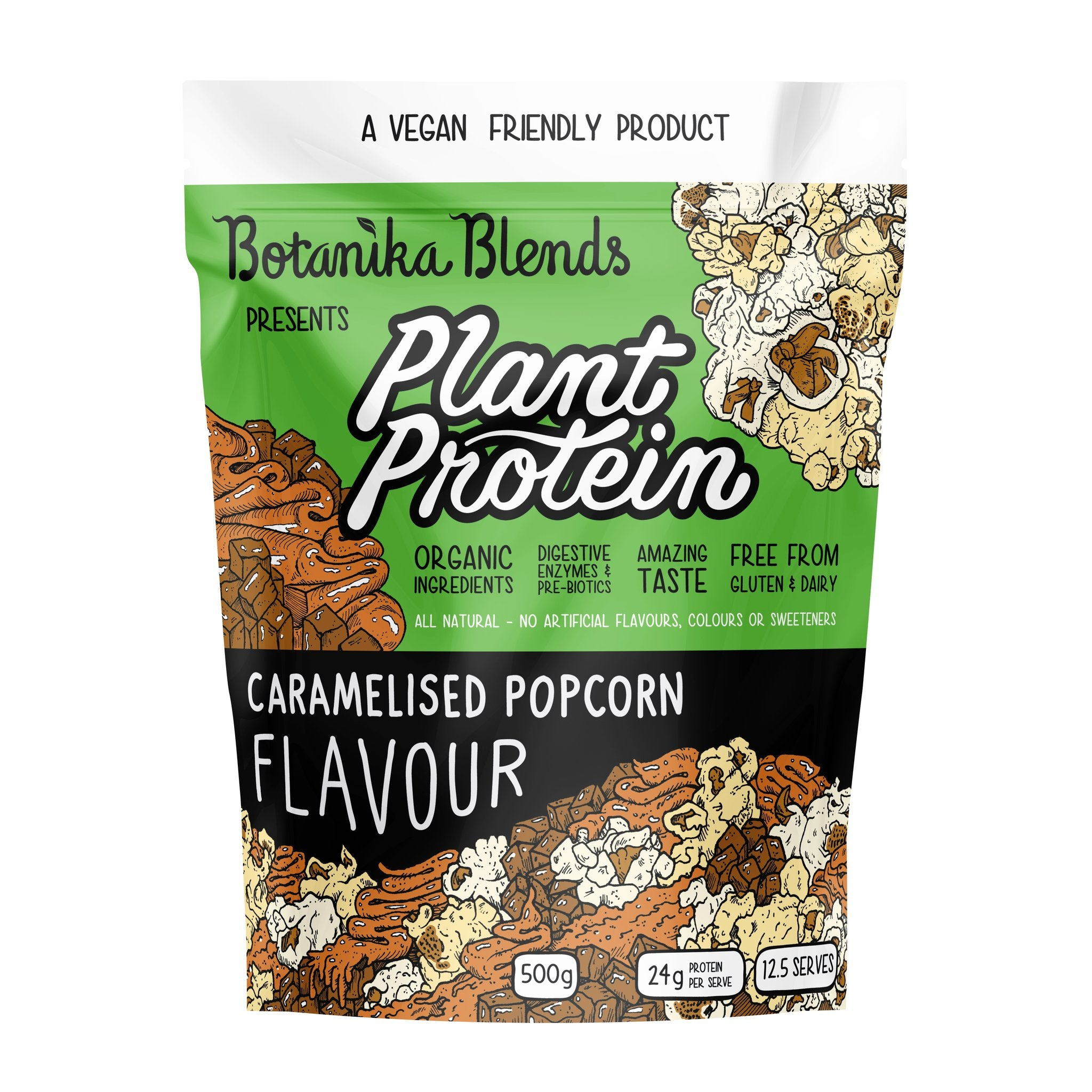Botanika Blends Vegan Protein Powder - Caramelised Popcorn Flavour 500g