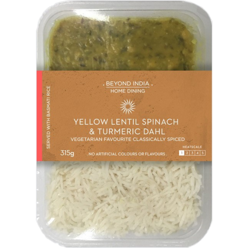 Beyond India Yellow Lentil Spinach & Turmeric Dahl 315g