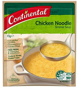 Continental Chicken Noodle Simmer Soup 45g