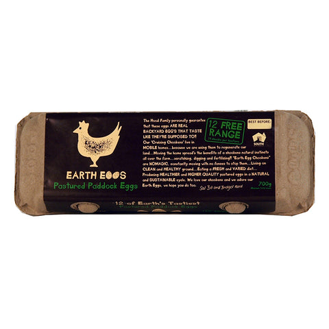 Eggs - Earth Eggs Free Range Dozen 700g