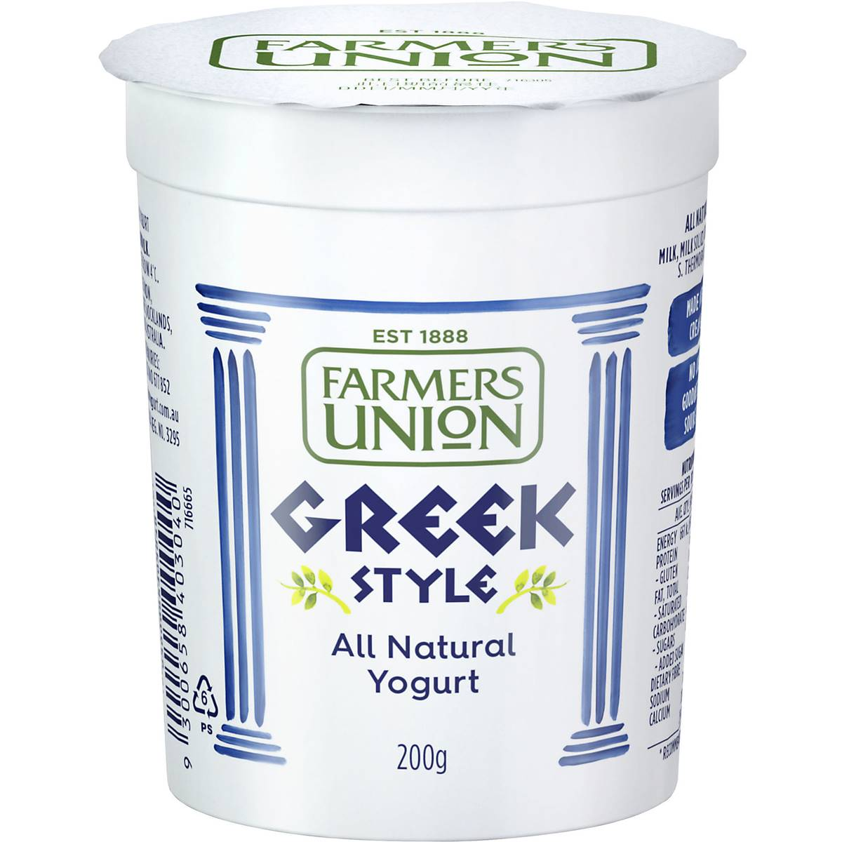 Farmers Union Greek Style Yoghurt 200g
