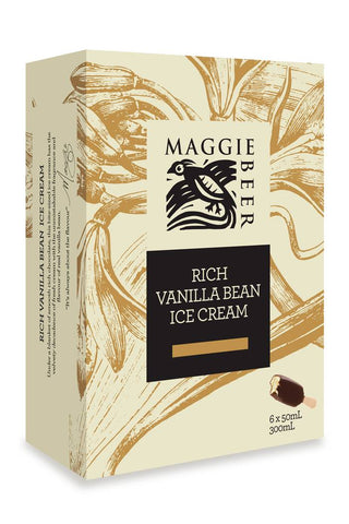 Maggie Beer Ice-cream Vanilla Sticks 6X50ml