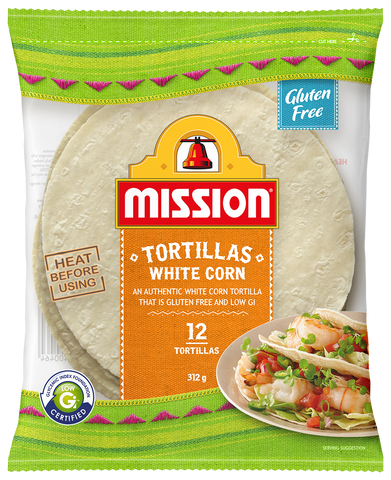Mission Tortillas White Corn 312g