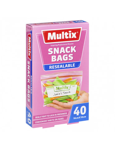 Multix Quick Zip Snack Bags 40 pack