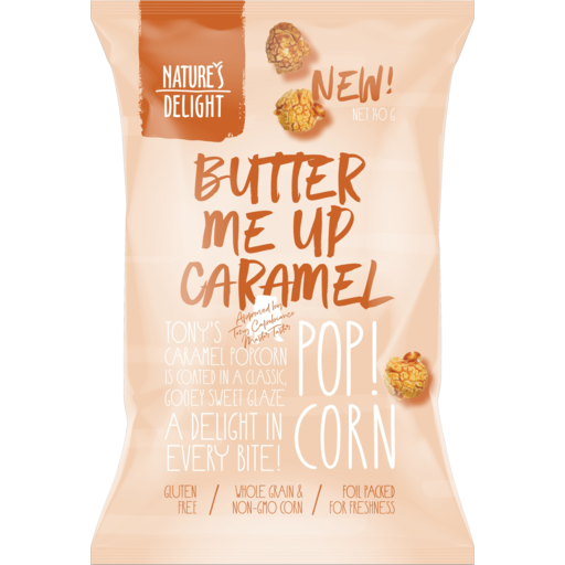 Nature's Delight Popcorn Butter Me Up Caramel 120g