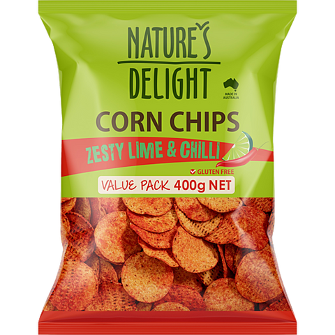 Corn Chips - Nature's Delight Zesty 400g