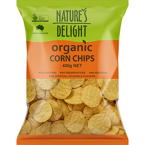 Corn Chips - Natures Delight Organic 400g