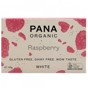 Pana Raw White Chocolate Raspberry 45g