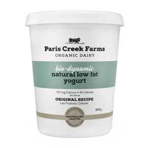 Paris Creek Farms Bio-Dynamic Natural Low Fat Yogurt 500g