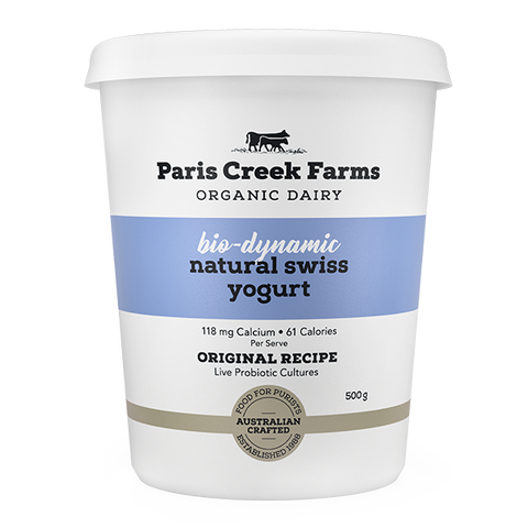 Paris Creek Farms Bio-Dynamic Natural Swiss Yogurt 500g
