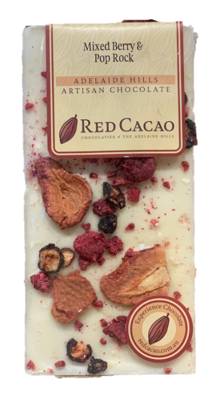 Red Cacao Artisan Chocolate Mixed Berry & Pop Rock White