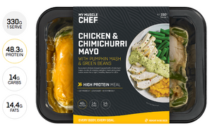 Chicken & Chimichurri Mayo with Pumpkin Mash & Green Beans 330g