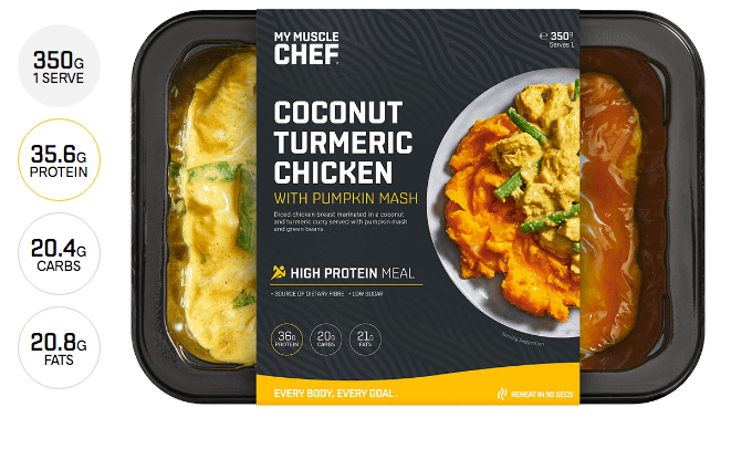 My Muscle Chef- Coconut Tumeric Chicken with Pumpkin Mash 350g
