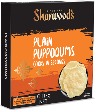 Sharwood's Plain Puppodums 113g