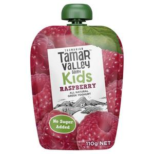 Tamar Valley Kids Greek Natural Raspberry Yoghurt Pouch 110g