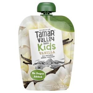 Tamar Valley Kids Greek Vanilla Yoghurt Pouch 110g
