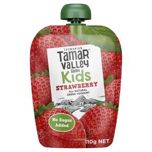 Tamar Valley Kids Greek Strawberry Yoghurt Pouch 110g