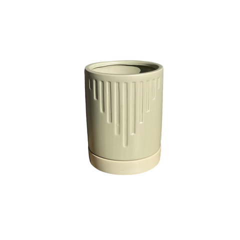 Spearmint Texture Ceramic Pot
