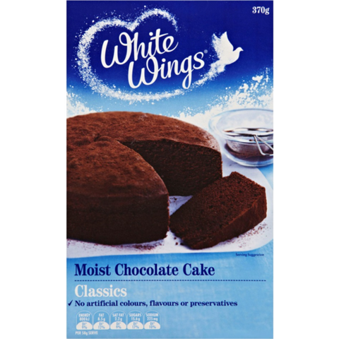 White Wings Cake Mix Moist Chocolate 370g