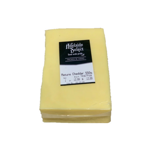 Adelaide Select Mature Cheddar Cheese 550g