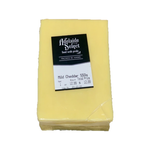 Adelaide Select Mild Cheddar Cheese 550g