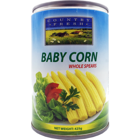 Country Baby Corn Whole Spears 425g