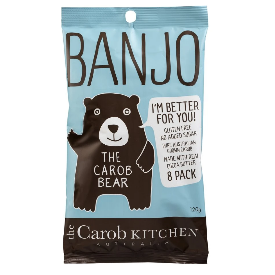 Carob Kitchen Banjo Bear Milk 120g