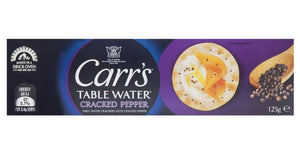 Carrs Table Water Crackers Cracked Pepper 125g