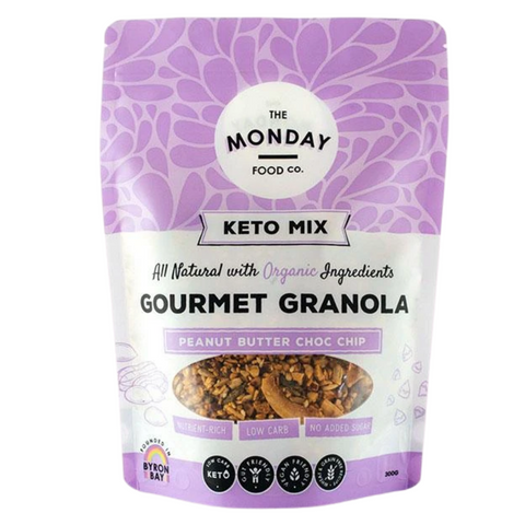 Monday Food Co Crunchy Peanut Butter Choc Chip Keto Granola