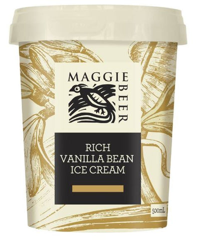 Maggie Beer Ice-cream Vanilla Bean 500ml