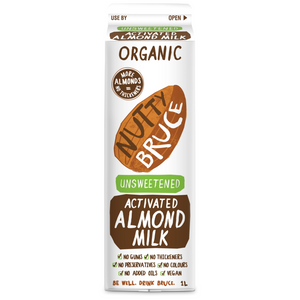 Nutty Bruce Unsweetened Activated Almond Milk 1L