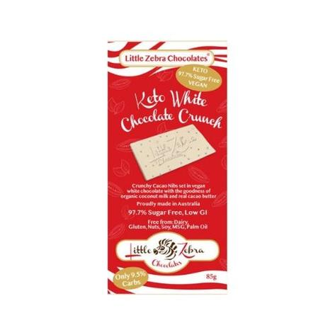 Little Zebra Keto White Chocolate Crunch 85g