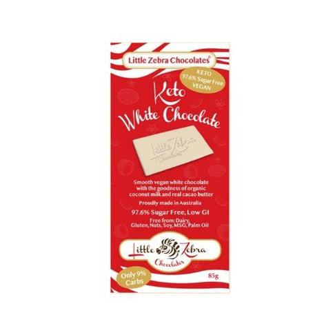 Little Zebra Keto White Chocolate 85g