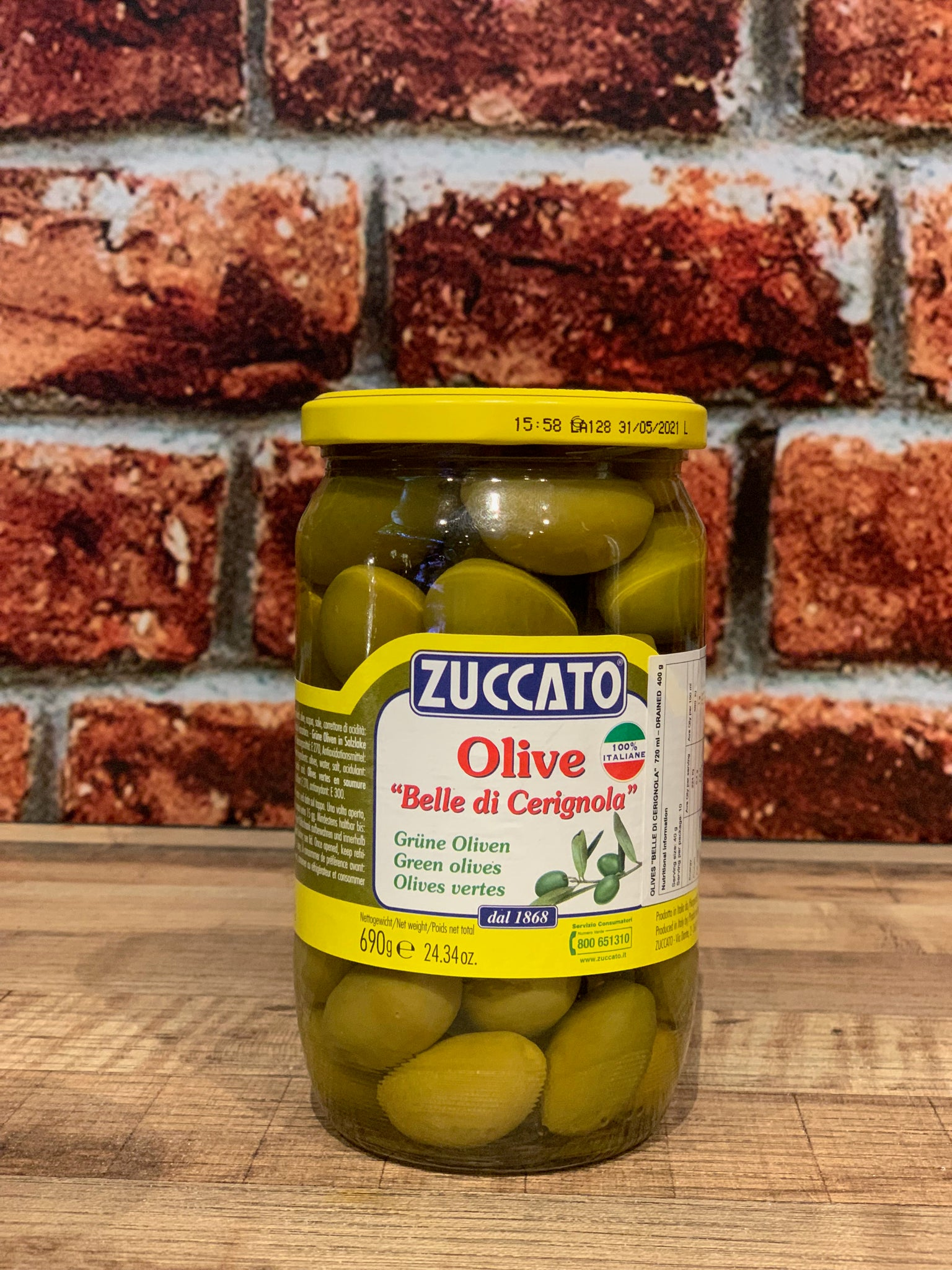 Zuccato Olives Green 690g
