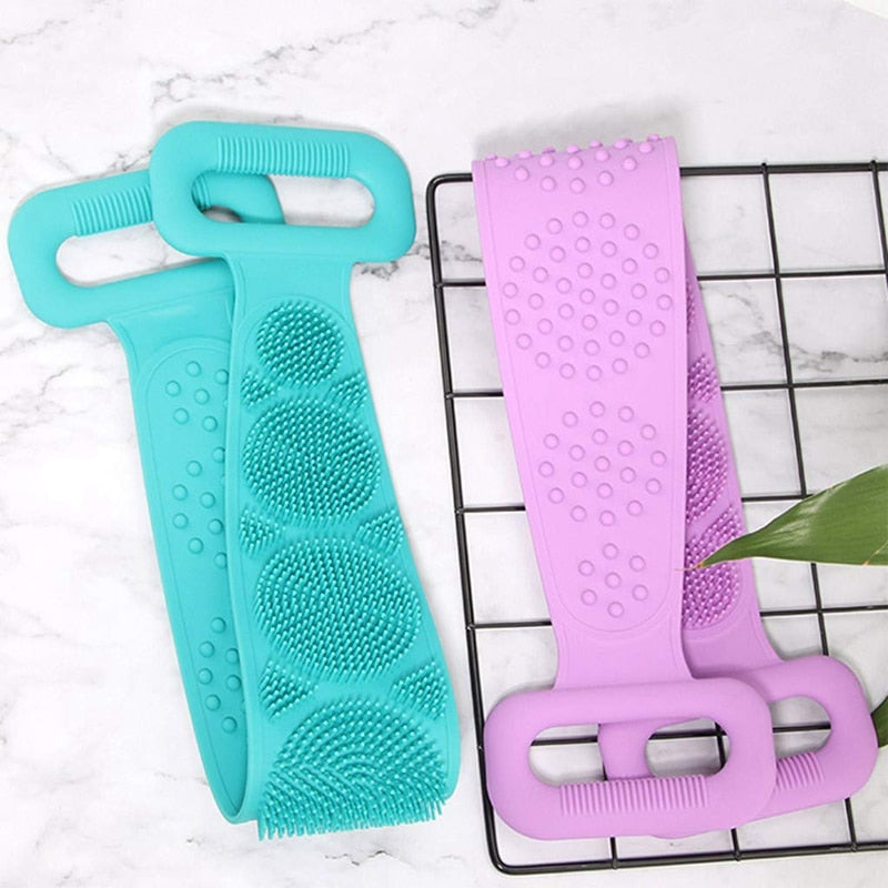 Bath Body Brush  Exfoliating Silicone Back Scrubber