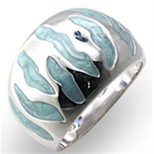 High-Polished 925 Sterling Silver Ring
