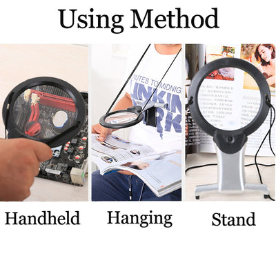Hands Free or Hand Held LED Magnifier - The Savvy Senior Shop