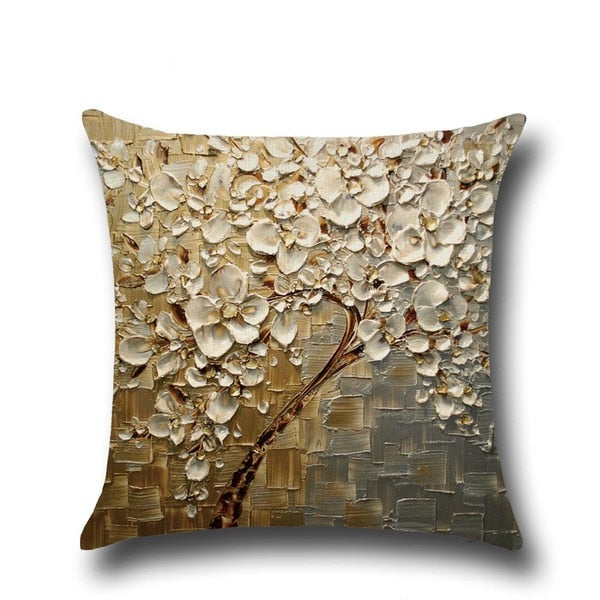 Soft Cotton Linen Cushion Cover 3D