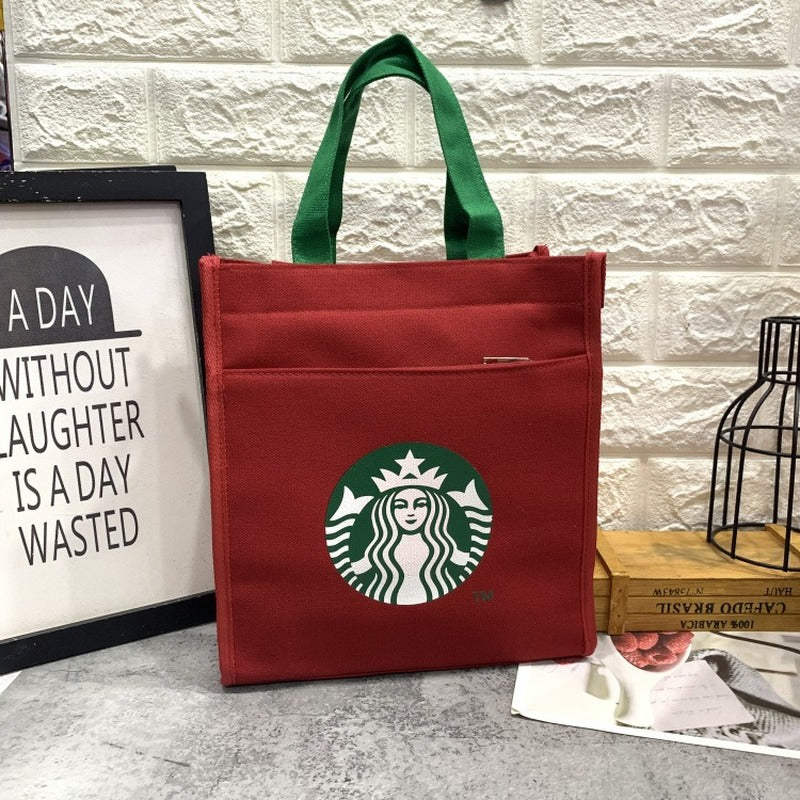 Starbucks Canvas Lunch Box  Handbag