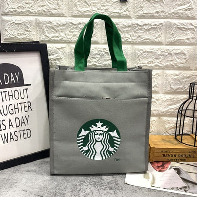 Starbucks Canvas Lunch Box  Handbag - The Savvy Senior Shop