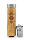 17.9oz LOVE Premium Insulated Bamboo Water Bottle - The Savvy Senior Shop