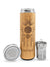17.9oz GRATITUDE Premium Insulated Bamboo Water Bottle