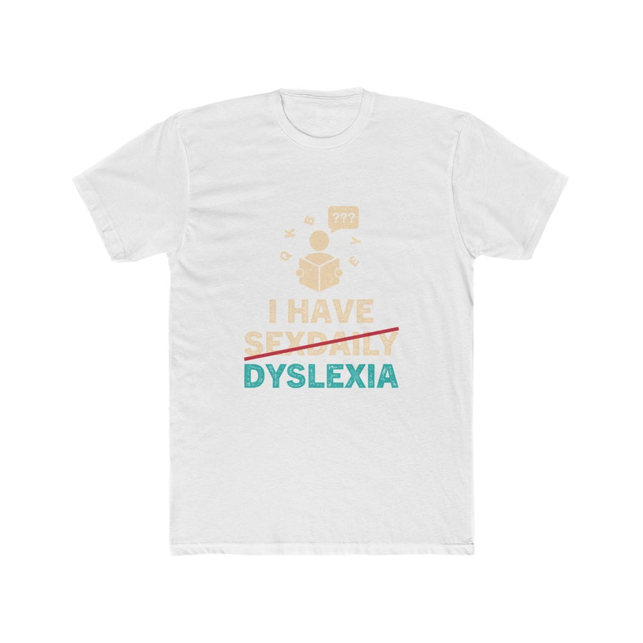 Men's Cotton Crew Tee - Dyslexia