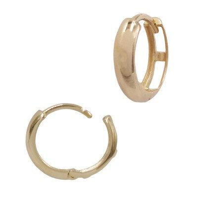 Beautiful 14k Gold Simple Minimalist Thick Hoop