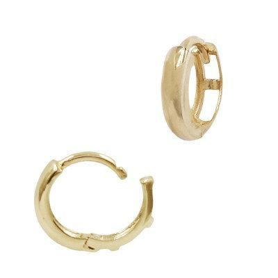 Beautiful 14k Gold Simple Minimalist Thick Hoop - The Savvy Senior Shop