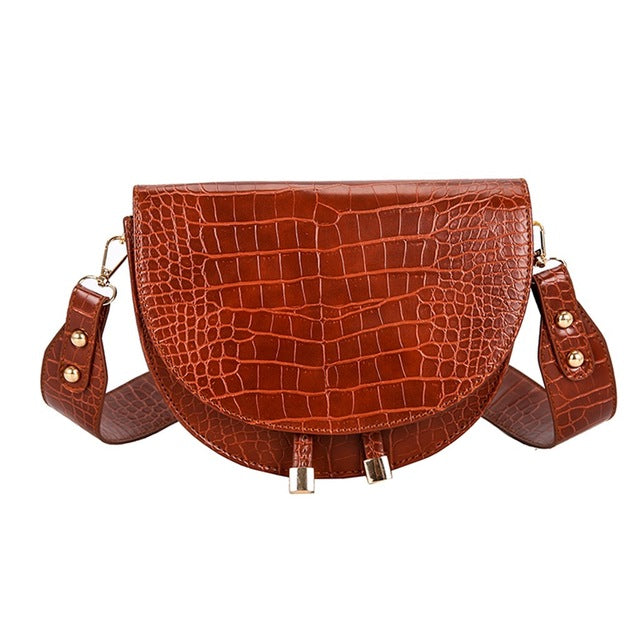 Elegant Crocodile Pattern Crossbody Bag For Women