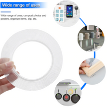 Load image into Gallery viewer, Double Sided Nano Adhesive Tape,Washable Traceless Nano Gel Tape,Stick to Glass