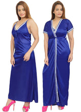 Load image into Gallery viewer, Women Nighty with Robe (Blue)