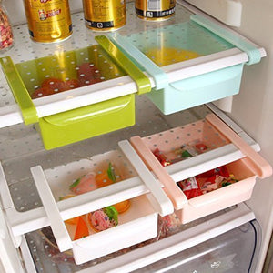 Refrigerator Storage Rack (Set of 4, Multicolour)