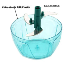 Load image into Gallery viewer, Mini Plastic Vegetable Chopper with 3 Blades ( 400 ML )